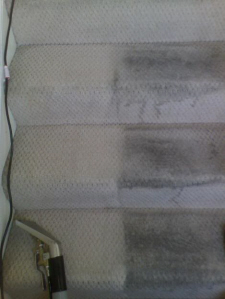 staircase carpet cleaningbefore and after